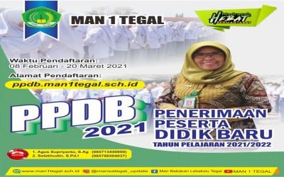 PPDB MAN 1 TEGAL TAHUN PELAJARAN 2021/2022