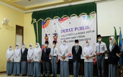 Berlatih Demokrasi, MAN 1 Tegal  Adakan Debat Publik Kandidat Ketua dan Wakil Ketua OSIS MPK Periode 2021 - 2022