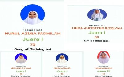 Lima Siswa MAN 1 Tegal Raih Juara KSM Tingkat Kabupaten